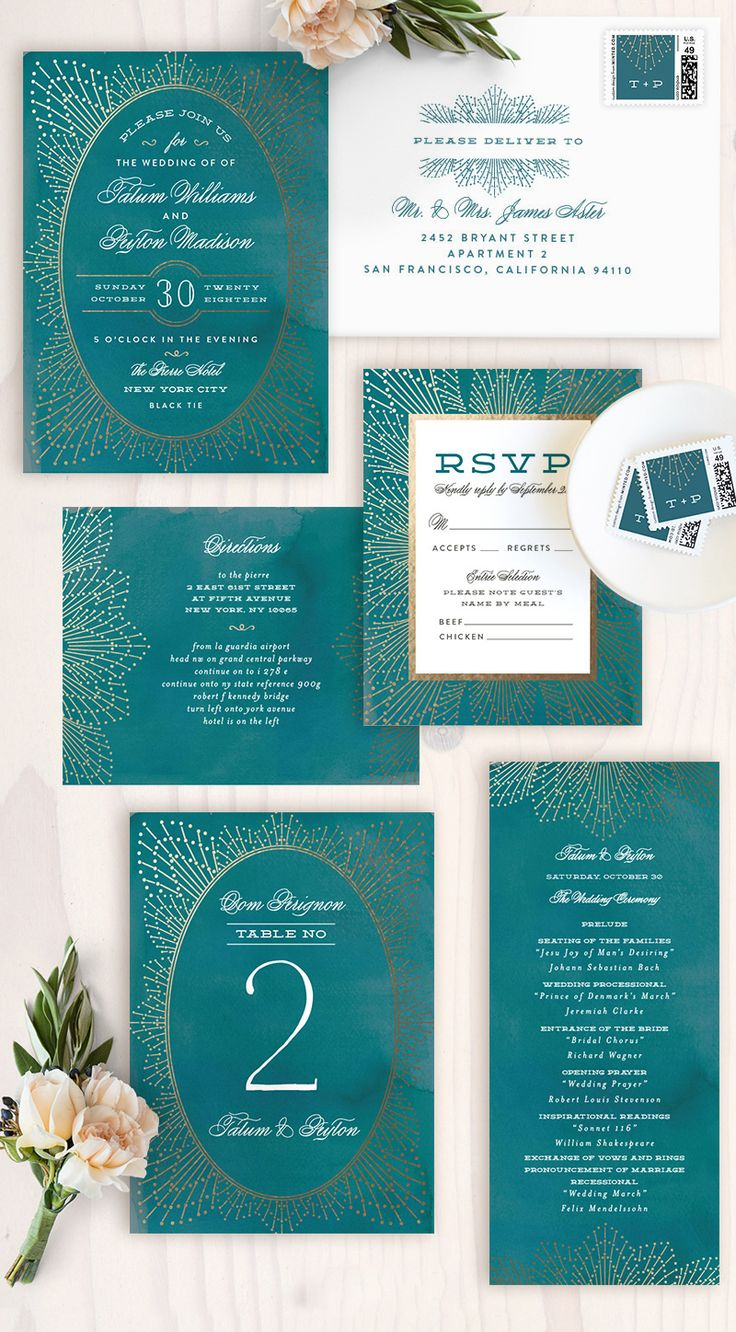 not on the high street winter wedding invitations%0A Make your wedding sparkle with this elegant foilpressed wedding invitation  by Minted artist Chris