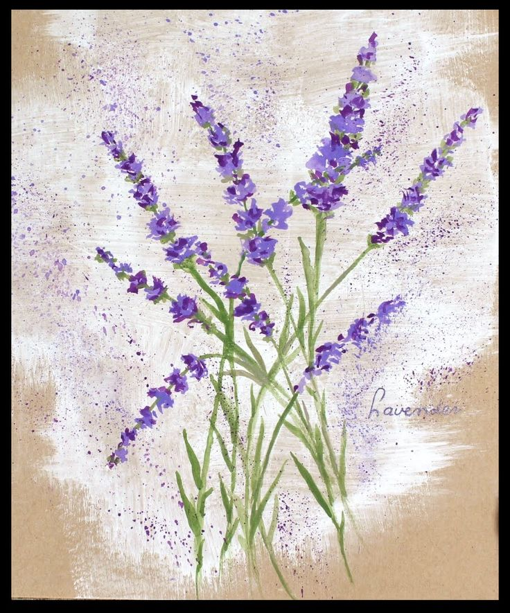 How to paint Lavender flowers with any kind of watercolor on normal pape...
