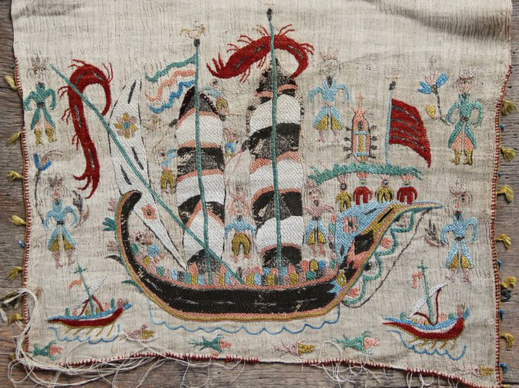 17th Century Greek Island embroidery (Skyros)