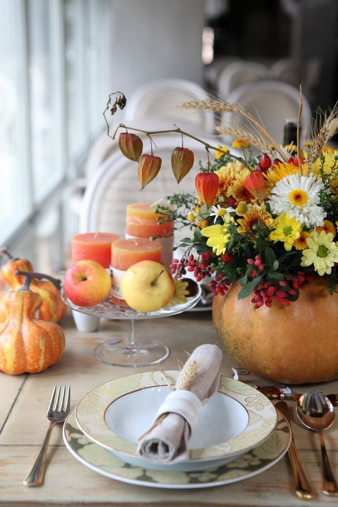 As temperatures drop, bring the outdoors inside with decorative gourds and re-purposed Halloween décor. You'll be ready for any festive party! For more decor and design inspiration -bhgrelife.com