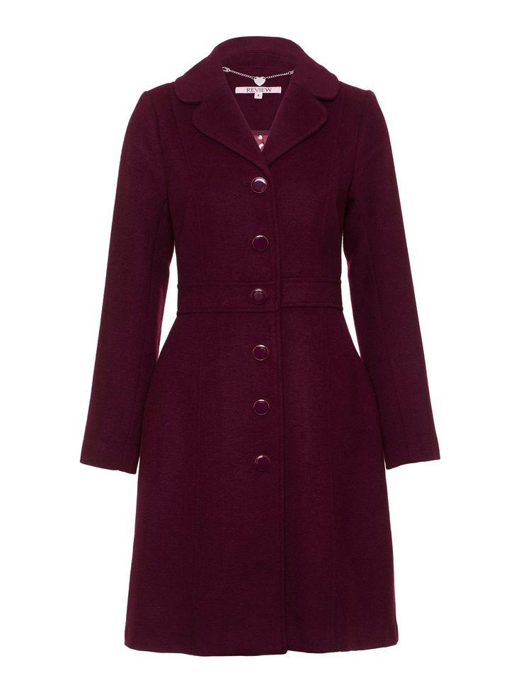 Lavato Coat | Wine |Coats