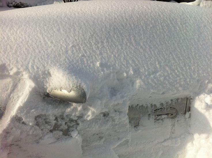snow over my car