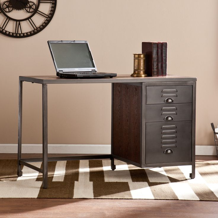 Furniture Overstock Warehouse: Harper Blvd Priscilla Wood/ Metal File Desk By Harper Blvd