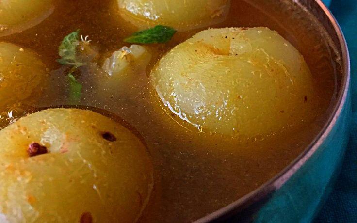 Nellikai Rasam (Whole Gooseberry Rasam) Recipe