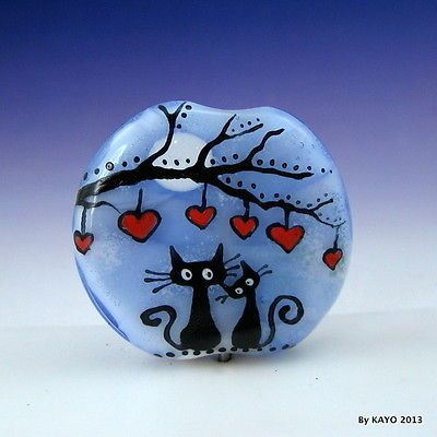 """""""Thank You for Being A Friend """"  'Bykayo' Handmade Lampwork Glass Focal Bead SRA eBay<3<3<3FANTASTIC<3<3<3"""