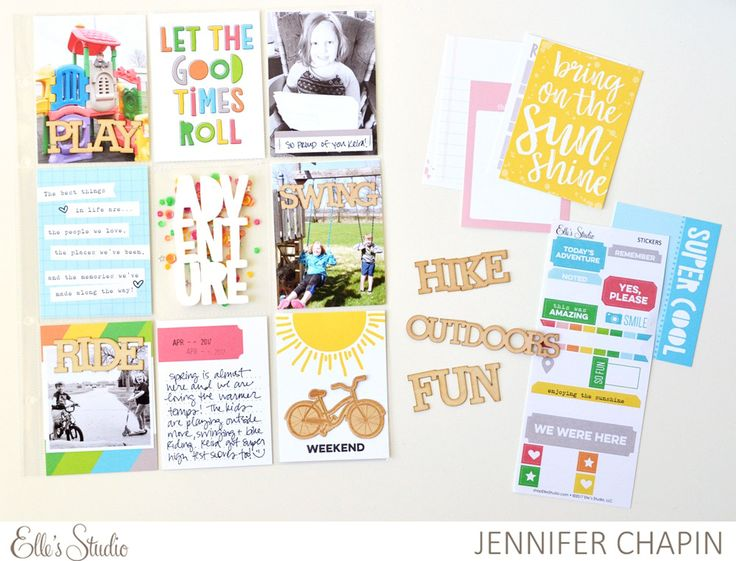An Outdoor Fun Pocket Page + Video with Jen Chapin | Elle's Studio Blog