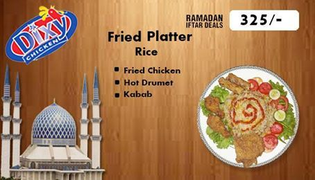 Spacial Offer for Ramadan visit #dixychicken and enjoy your Meal.#dixychicken brings the most unbelievable deal in your city have #FriedChicken #Hotdrumet #Kabab in just 325. Order Online For Fastest Delivery Or Drop By To Carry out. #Dixy #Chicken Lahore (893-D Faisal Town, Near Akbar Chowk). For Free Home Delivery Call Now: 0304-1113499 #Fries #Food #friedChicken #Burgers #Pizza #Spicy #PeriPeriChicken #HotDeals #GrilledChicken #Shakes #icecream #Grilled #Wings