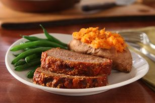 KRAFT Parmesan Meatloaf — Here's meatloaf with a decidedly Italian influence, featuring zesty spaghetti sauce and Parmesan seasoning.