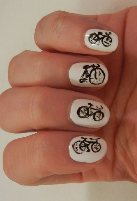 Warning: time, effort and dedication required!  #bike #nails