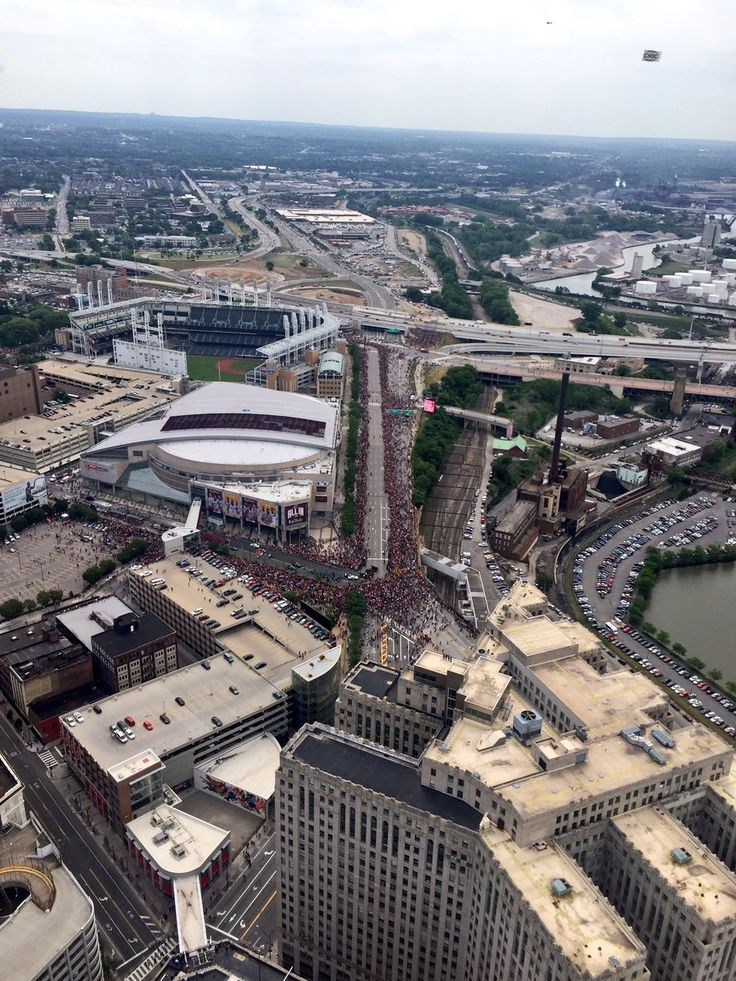 My view from the top! #cavsparade