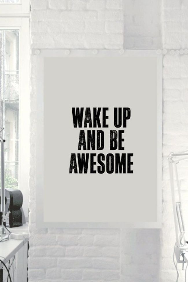 poster: Morning Routines, I Am Awesome, Mornings N, Poster, Good Morning Sunshine, Good Mornings Sunshine, Ideas Pink, Be Awesome, Bedrooms Ideas