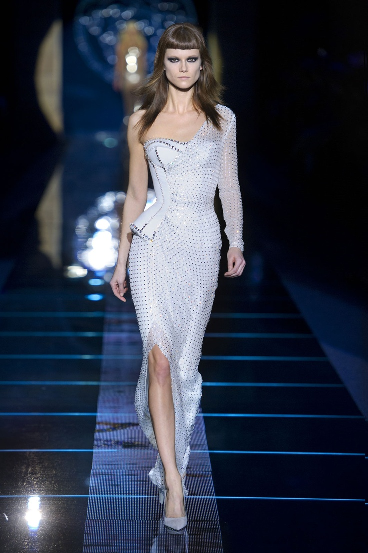 Giulia White Stud Gown by Versace