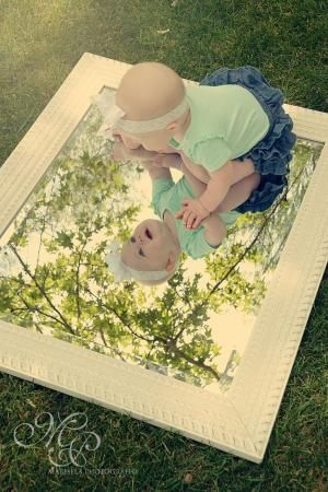 """What I like to call a """"Pieces of Me"""" collage of my little baby girl, 6 months old"""
