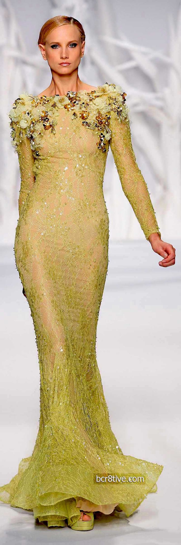 Abed Mahfouz Fall Winter 2014 Haute Couture Collection » bcr8tiven/// I love this dress...It's stunning....