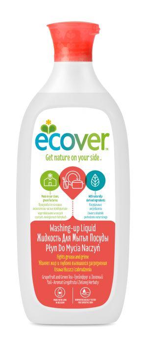 Экологическая жидкость для мытья посуды с грейпфрутом и зеленым чаем - Ecover