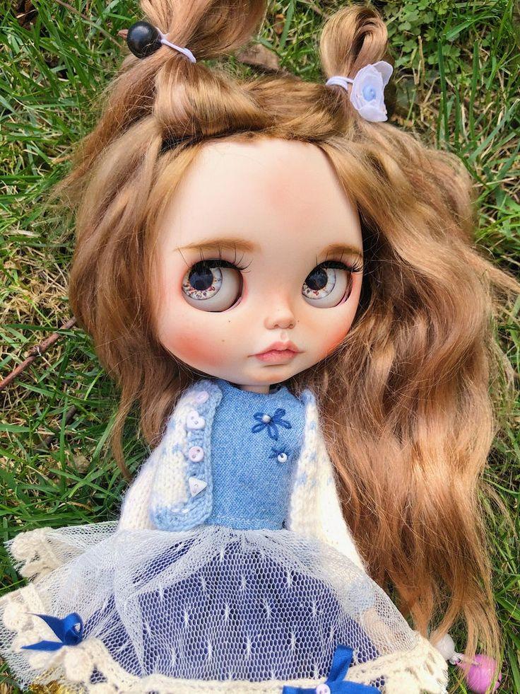 EMILIE/ Ooak custom blythe doll-alpaca weft hair