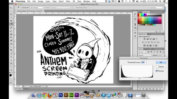 Create a Three-Color Illustration for Screen Printing