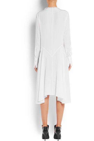 Givenchy - Ruffled Midi Dress In White Silk Crepe De Chine - FR40