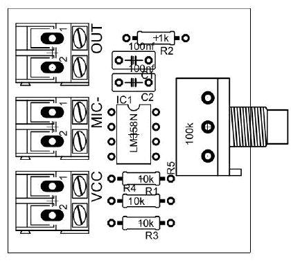 O lm358 é um circuito integrado que possui dois amplificadores internamente, tem excelentes características, possibilitando que façamos pré amplificadores de alto ganho. A configuração dos pinos deste circuito integrado pode ser visto na imagem abaixo:  Amplificador operacional lm358: O circuito que postarei aqui e muito comum achar ele na internet, dentre suas vantagens podemos destacar sua simplicidade, tanto na quantidade de componentes , que são poucos, quanto na facilidade de acha-los…