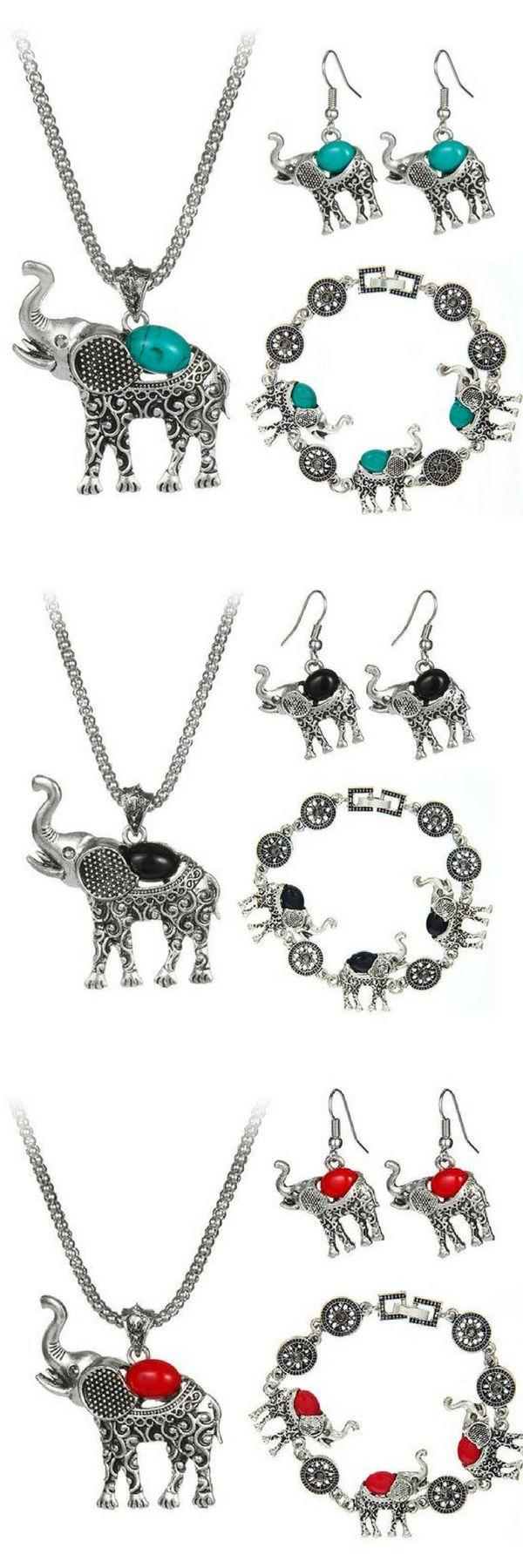 Elephant jewelry set for ALL Elephant lovers    elephant jewelry | elephant jewelry necklace | elephant jewelry diy | elephant jewelry bracelets | Funky Elephant Jewelry | Elephant Jewelry | elephant jewelry. | boho jewelry | boho jewelry diy | boho jewelry necklace | boho jewelry rings | boho jewelry bracelet | Handmade Boho jewelry    #bohochic #bohojewelry #elephant #jewelrysets #pretty #onsale