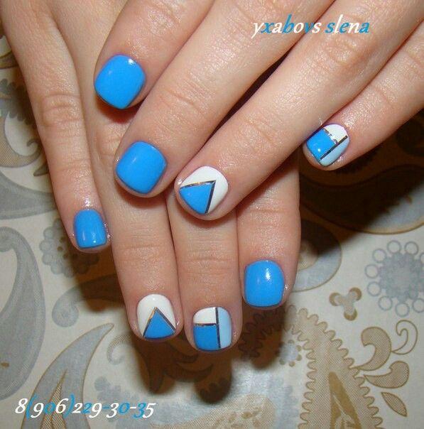 Nail art. Natural nails. Гель-лак. Натуральные ногти