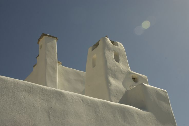"""A collection of chimney creations decorating my constructions, always under the """"laws"""" and aesthetics of the traditional architectural style of Cyclades!"""