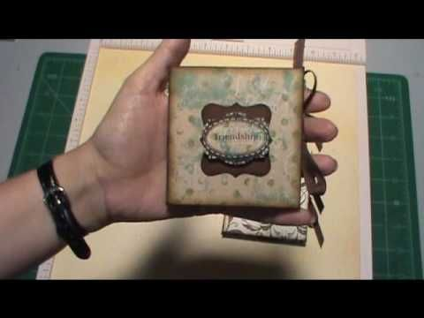 ▶ 3 x 3 mini book from one 12 x 12 paper - YouTube