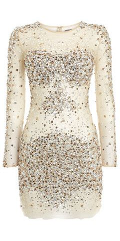 Nude Sequin Dress by JOVANI @Jaline Eguillos-Johnson Lyons Eguillos-Johnson Lyons Meets Dress