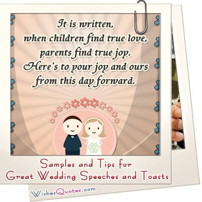 Samples and Tips for Great Wedding Speeches and Toasts