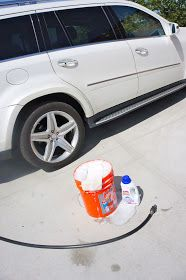 I wash MY CAR with WOOLITE...   Yes, Woolite the laundry soap! It's gentle yet cuts the grime.     I have been doing this for years.....It ...