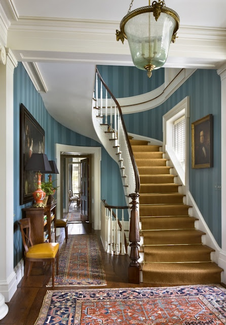 Traditional Foyer Photos : Best images about hallway wallpaper on pinterest