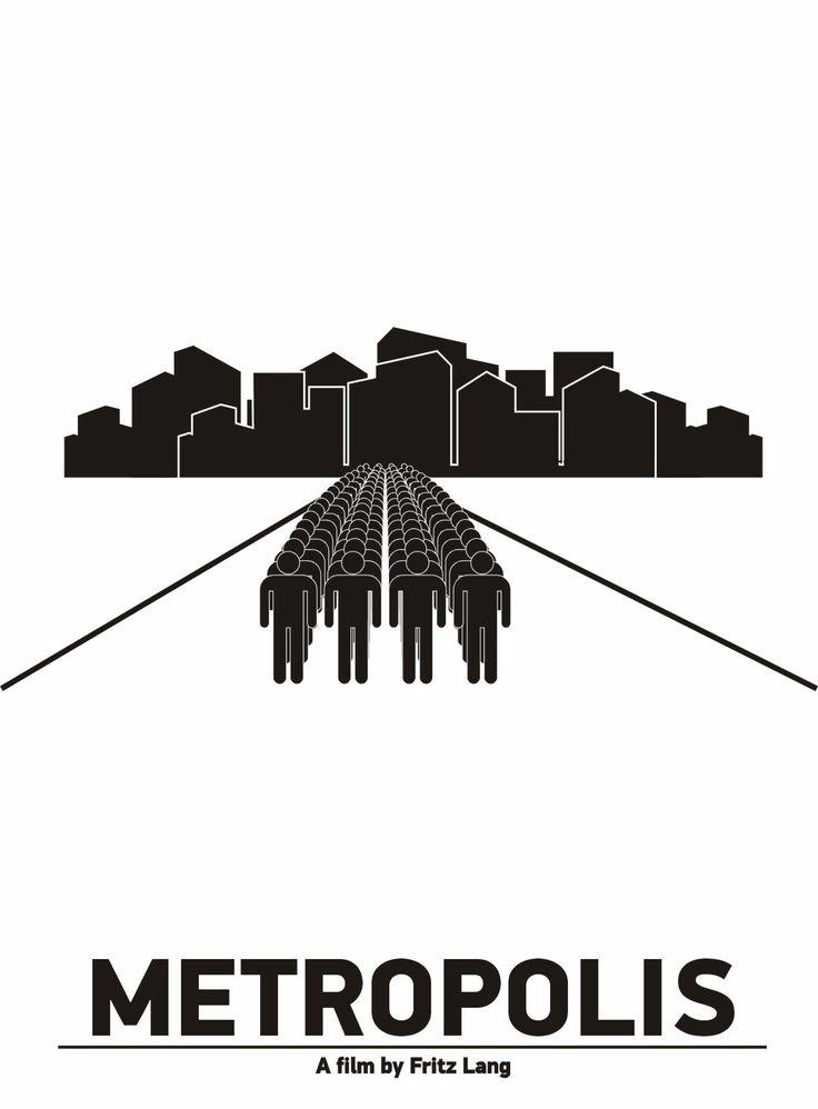 "Pictogram Movie Poster ""Metropolis"". Tribute to Viktor Hertz."