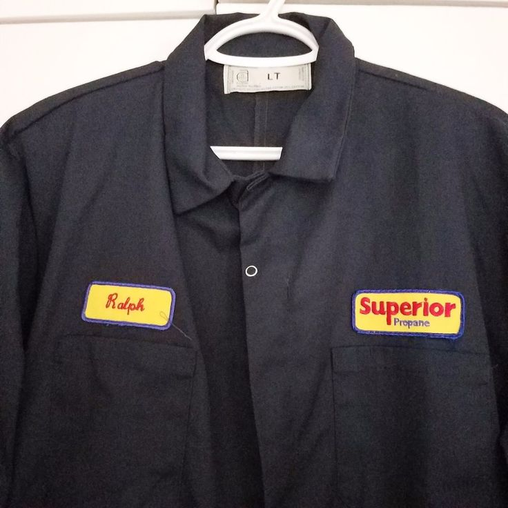 Mechanics Coveralls Ralph Superior Navy LT Work Garage Union Vintage 90s Tall #AnchorTextiles #Snap