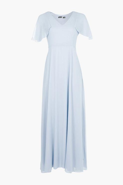 e838d6972766 Chiffon Cape Detail Maxi Dress in 2019 | pretty clothes | Dresses ...