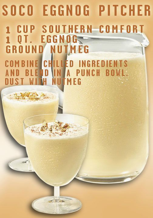 'Tis the Eggnog Season, friends. Try this easy recipe featuring the yumminess of eggnog with the tastiness of Southern Comfort. Even Grandma will give you the nod of approval this holiday.