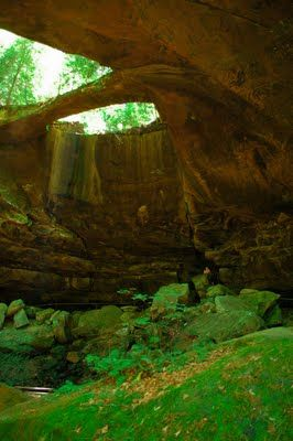 Natural Bridge, Alabama. This place is gorgeous. Great for hiking and there's a creek kids can play in and one of the cliffs has what looks like an Indian face on it
