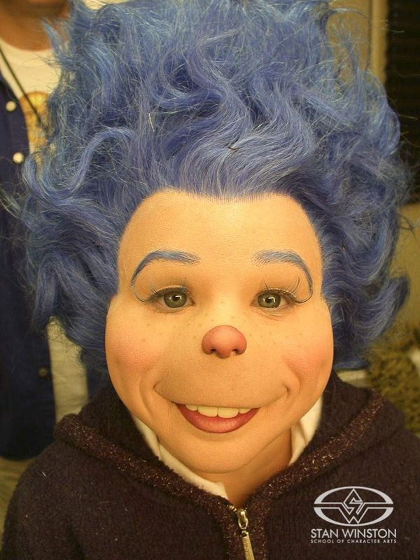 """Special Makeup Effects artist Lance Anderson applied this whimsical Steve Johnson-designed """"Thing"""" prosthetic makeup for THE CAT IN THE HAT."""