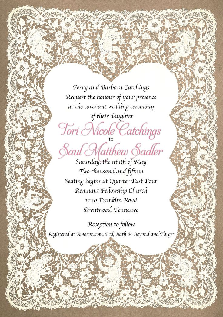 21 best Wedding Invitations images on Pinterest Bridal invitations - best of invitation letter sample format