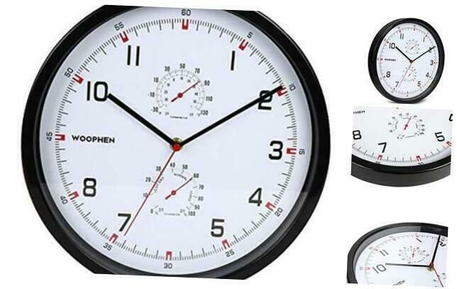 Woophen Modern Silent Wall Clock Non Ticking 12 Inch Quality Quartz Battery Oper Wall Clocks Ebay Link