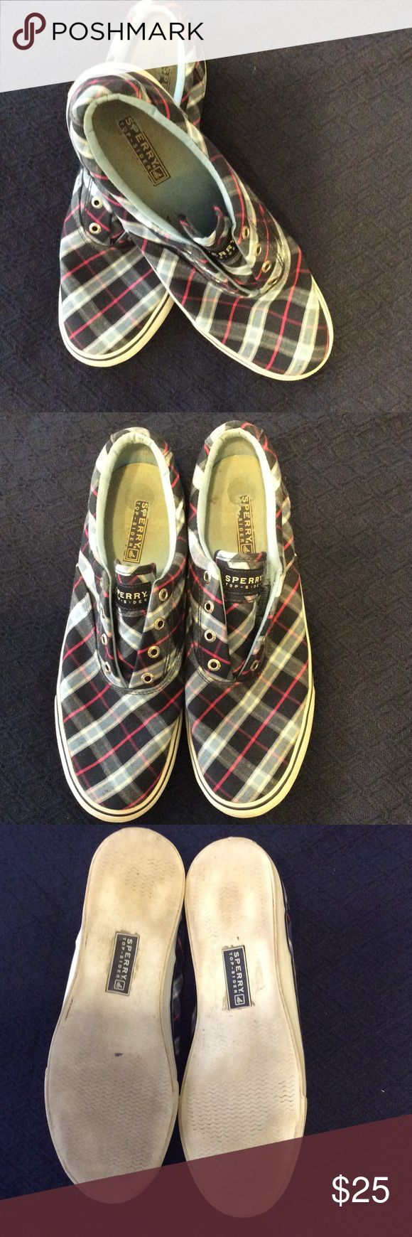 Spotted while shopping on Poshmark: Sperry top-siders plaid shoes size 9! #poshmark #fashion #shopping #style #Sperry Top-Sider #Shoes