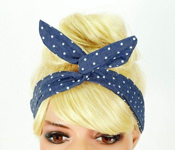 Dolly+Bow+Headband+Blue+Wire+Headband+Hair+Accessory+by+JuicyBows