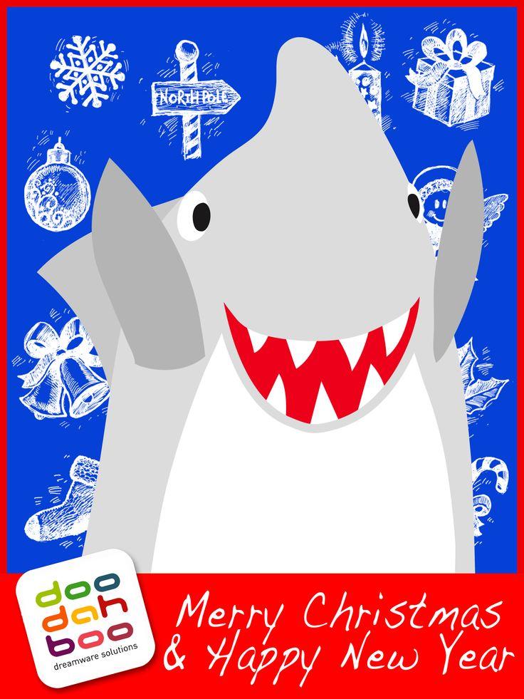 Shark Christmas Greetings Card