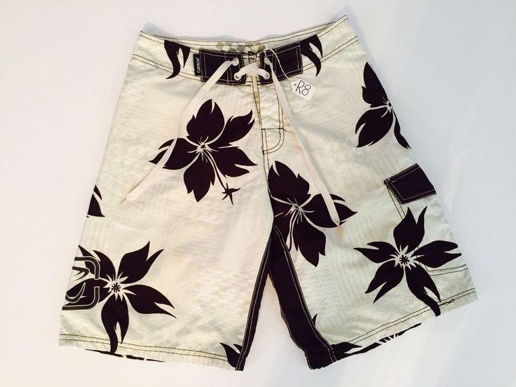 Carbon Rue 21 Men's Swimwear Board Shorts Brown Floral Print & Beige Small (R8)  | eBay