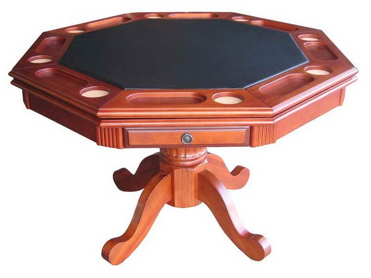 Octagon Poker Table Top For Your Entertainment Room With Drawer