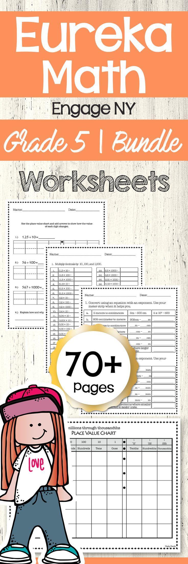 Eureka Math Engage Ny 5th Grade Worksheets All Modules Bundle In 2020 Eureka Math Math Math Lesson Plans [ 2208 x 736 Pixel ]