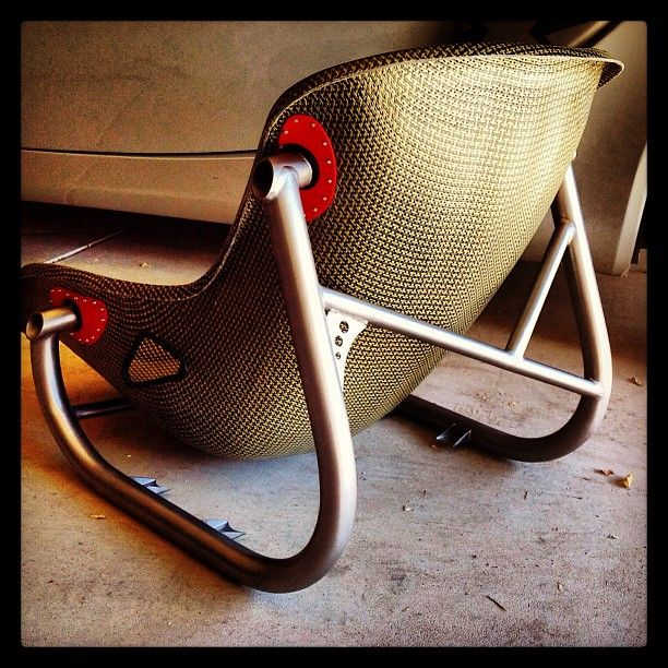Tillett Carbon Kevlar seat with custom titanium seat frame for a vintage Lotus.Could also be a cool idea other types of furniture