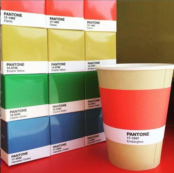For Color Fans: The PANTONE Café Is A Colorful, Vibrant Rainbow-Hued Delight - DesignTAXI.com