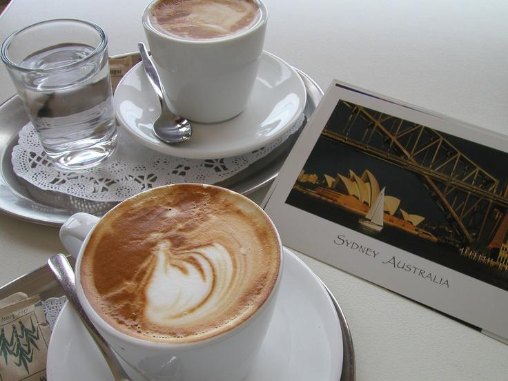 Coffee with Christine at Manly beach, Sydney, Australia.
