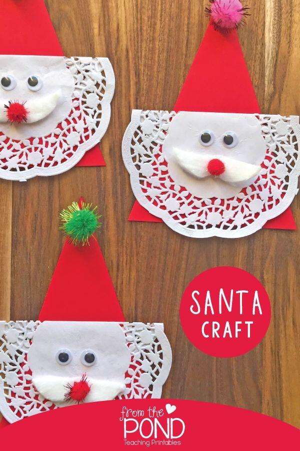 Easy Santa Craft For Kids Frog Spot Kerstknutsels Pinterest
