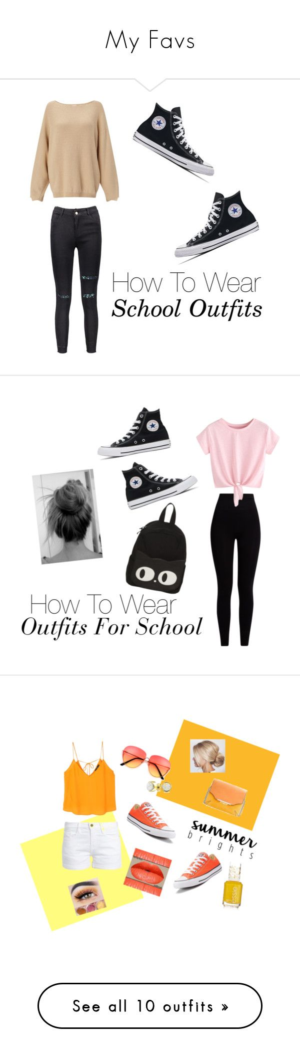 """""""My Favs"""" by gussied-up on Polyvore featuring Pepper & Mayne, Converse, MANGO, Frame, Bling Jewelry, rag & bone, NIKE, BKE, Topshop and adidas"""